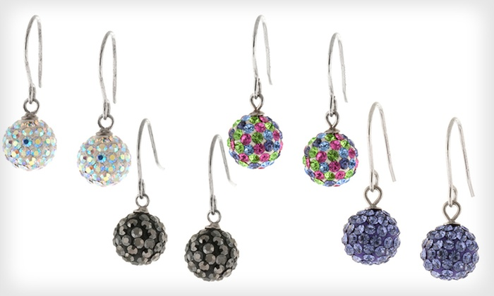 Crystal Fashion Earrings: Crystal Fashion Earrings (80% Off). 16 Options Available. Free Returns.
