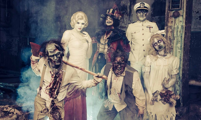The Queen Mary's Dark Harbor - Long Beach, CA: $22 for Entry to Dark Harbor Haunted Carnival and a Visit to The Queen Mary ($44 Value). Seven Dates Available.