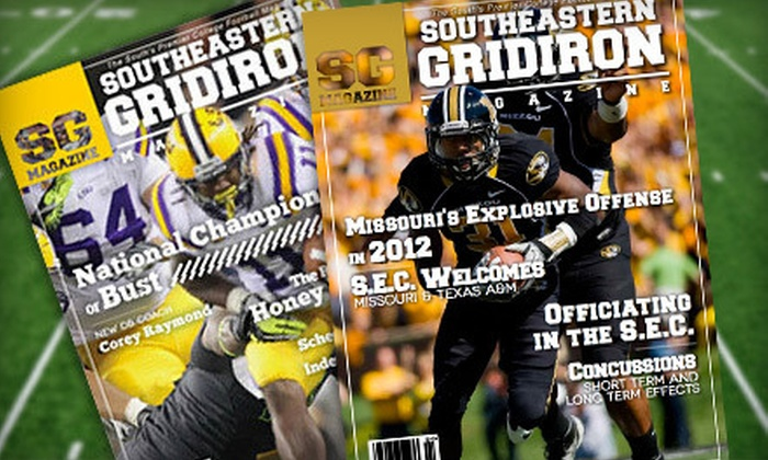 """Southeastern Gridiron Magazine - Columbia, MO: One-Year Silver or Gold or Two-Year Gold Subscription to """"Southeastern Gridiron Magazine"""" (Up to 75% Off)"""