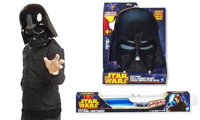 Star Wars Light Saber or Darth Vader Helmet: Star Wars Electronic Light Saber or Darth Vader Voice Changer Helmet from $9.99-$14.99.