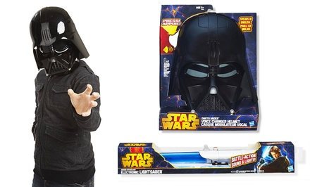 Star Wars Electronic Light Saber or Darth Vader Voice Changer Helmet. Free Returns.