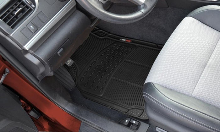 Motor trend car floor mat set groupon goods for Motor trend floor mats review