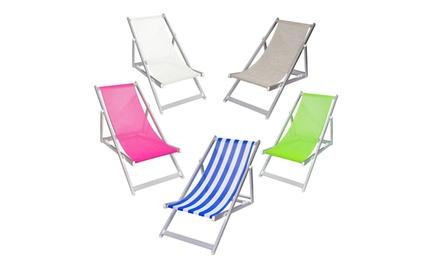 Sedia a sdraio in alluminio, disponibile in 5 colori
