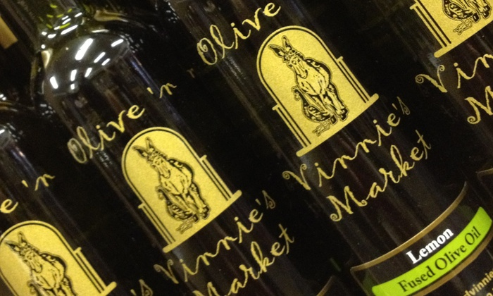 Olive 'n Vinnie's Market - Glen Ellyn: $13 for One Four-Pack of Olive Oils and Balsamic Vinegars at Olive 'n Vinnie's Market ($26 Value)