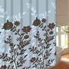Floral and Vine Fabric Shower Curtain with 12 Rings