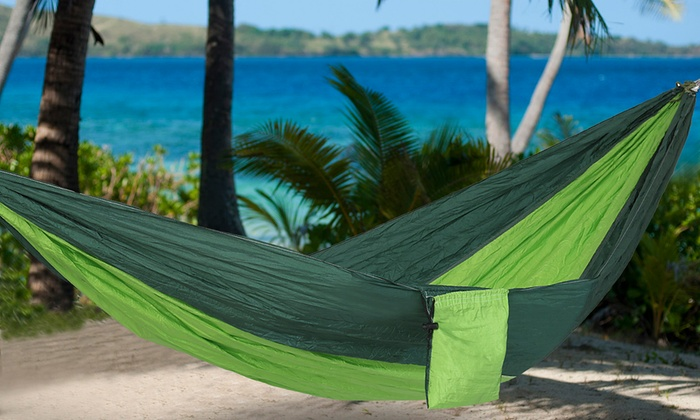 equipped outdoors 2 person parachute hammock  equipped outdoors 2 person parachute hammock     2 person parachute hammock   groupon goods  rh   groupon