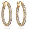 1/3 CTTW Diamond Inside-Out Hoop Earrings in 14K Gold