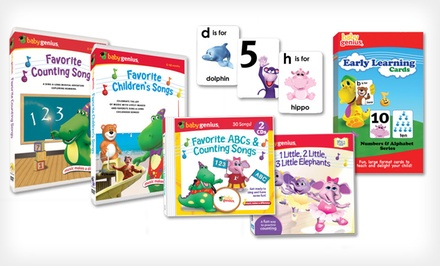 $19.99 for $50 Worth of Educational Kids' DVDs, CDs, and Books from Baby Genius