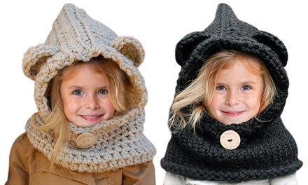 Bear Knitted Hat and Snood