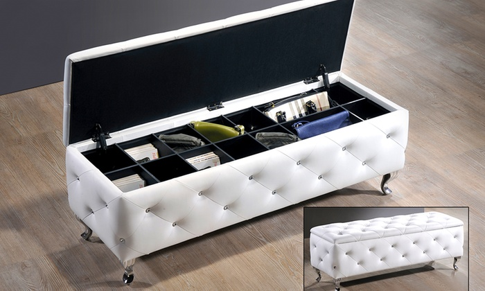 Modern Storage Bench Groupon Goods