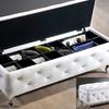 Stella Faux Crystal Tufted Modern Storage Bench