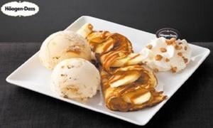 Haagen Dazs rue neuve: Une Banana Caramel crêpe pour 1, 2 ou 4 personnes dès 5 € chez Häagen-Dazs™, rue Neuve