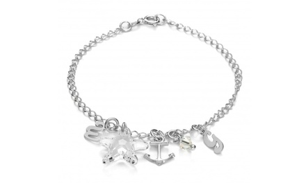 Personalised Initial Bracelet Made With SWAROVSKI ELEMENTS for £16.99 With Free Delivery (80% Off)