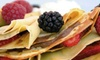 Crêpes & Grapes - Town Center: $8 for Two Vouchers for Food and Drinks atCrêpes& Grapes ($16 Value)