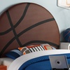 Upholstered Twin Sports- or Heart-Themed Headboards