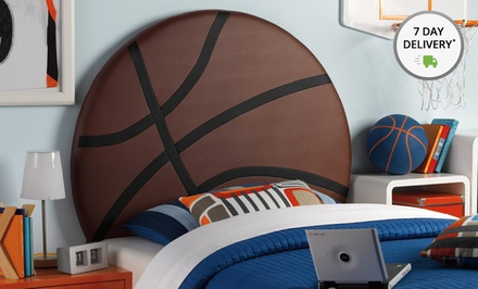 Upholstered Twin Sports- or Heart-Themed Headboards. Multiple Styles Available. Free Returns.