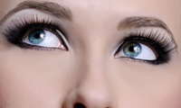 Full Set of Semi-Permanent Eyelash Extensions with Optional Brow Wax and Tint at The Headroom (Up to 68% Off)