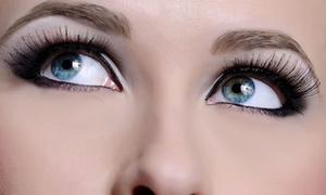 The Headroom: Full Set of Semi-Permanent Eyelash Extensions with Optional Brow Wax and Tint at The Headroom (Up to 68% Off)