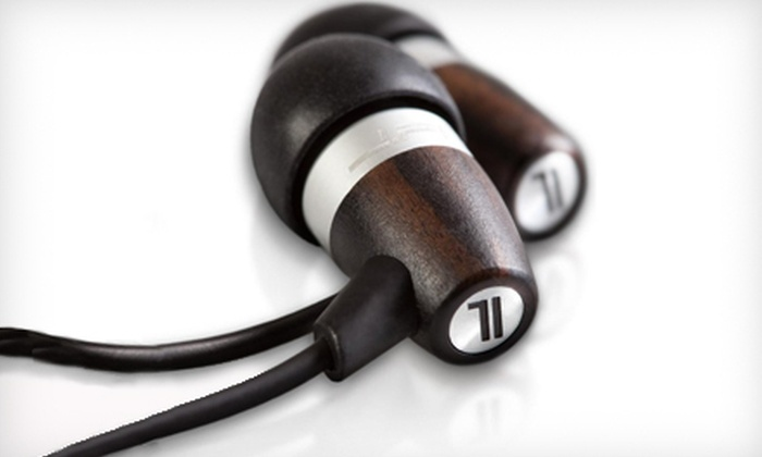JLab Wood and Metal Fusion Earphones: $25 for JLab Acoustic Ebony Wood and Metal Fusion Earphones ($89.95 List Price). Free Shipping.
