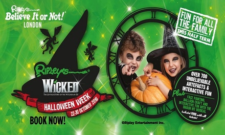 Two Fast Track Tickets to Ripley's 'Wicked' Halloween Week, 22 - 30 October up to 63% off'