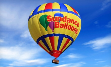 Hot-Air Balloon Ride for One or Two on a Weekday Morning or Evening or Anytime from Sundance...