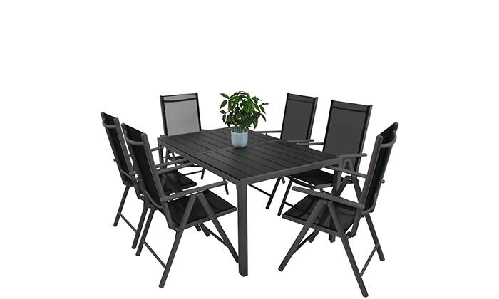 Gartentisch Mit Sechs Stühlen.Gartentisch Mit 6 Stühlen Groupon Goods