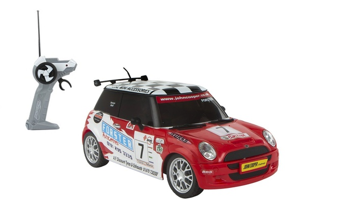 voiture rc mini cooper red bull groupon shopping. Black Bedroom Furniture Sets. Home Design Ideas