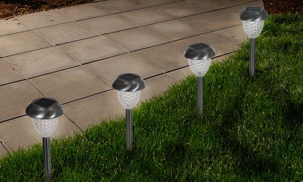 Pure Garden LED Solar Classic Glass Pathway Lights (Set of 6)