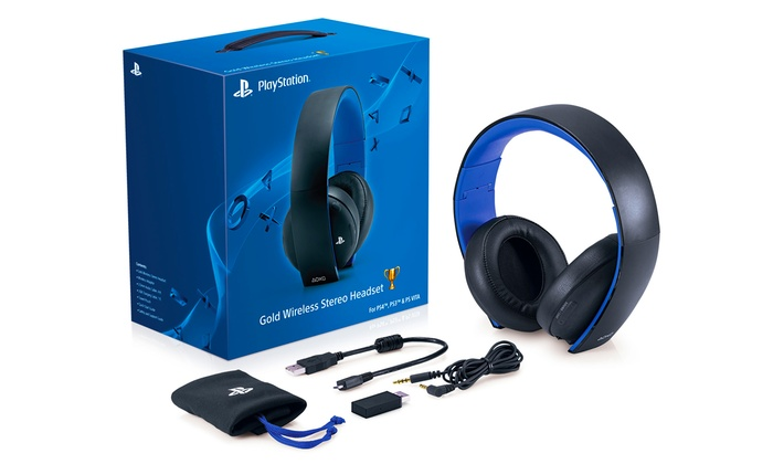 Sony PlayStation Gold Wireless Stereo Headset: Sony PlayStation Gold Wireless Stereo Headset for PS4, PS3, PS Vita, PC, Mac, and Mobile Devices