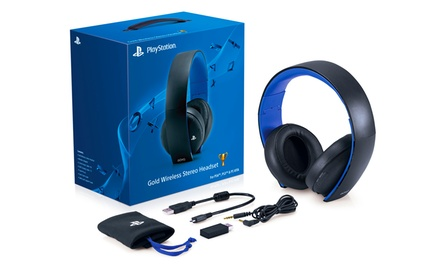 Sony PlayStation Gold Wireless Stereo Headset for PS4, PS3, PS Vita, PC, Mac, and Mobile Devices