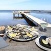 Huîtres, brasucade de moules et vin
