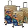 Sea Life Hardside 3-Piece Expandable Spinner Luggage Set with TSA Lock
