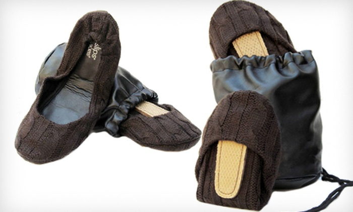 Brown Cable CitySlips Foldable Flats: $20 for Brown Cable CitySlips Foldable Flats in S–L with a Matching Carrying Pouch ($58 List Price). Free Shipping.