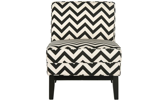 Safavieh Zig Zag Accent Chair Groupon Goods