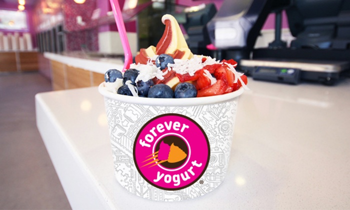 Forever Yogurt - Forever Yogurt: One or Three Groupons, Each Good for $10 Worth of Frozen Yogurt and Smoothies at Forever Yogurt (40% Off)