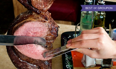 Dinner and Wine for Two or Four at Cowboy Brazilian Steakhouse. Four Options Available.