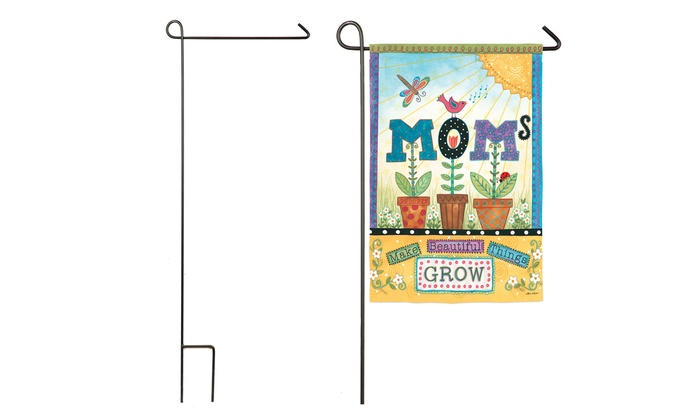 Mother's Day Patchwork Flag or Garden Flag Pole: Mother's Day Patchwork Flag or Garden Flag Pole