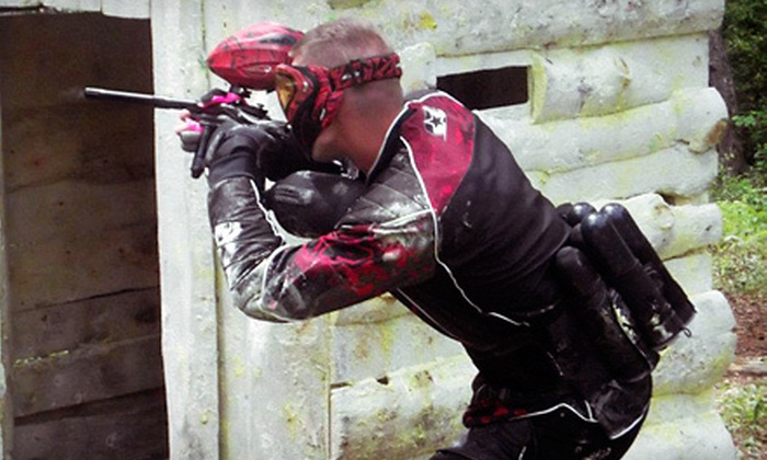 WarPlay Paintball - 4: All-Day Paintball Package with Gear Rental for Two, Four, Six, or Eight at WarPlay Paintball (Up to 84% Off)