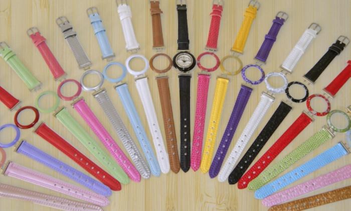 Horus Import: Kit de relógio analógico com 21 pulseiras coloridas, por R$ 79,90 + frete grátis