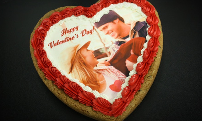 My Photo Cookie & more - Mcmillan: $17 for a 10-Inch Heart-Shaped Deep-Dish Photo Cookie at My Photo Cookie & more ($35 Value)