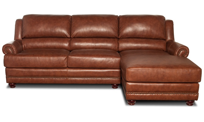 Hot Buy Vanessa Leather Sofa Groupon Goods