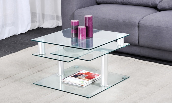 Table basse plateaux pivotants groupon shopping for Groupon table basse