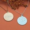 Medallion Necklace with Laser-Engraved Name or Monogram