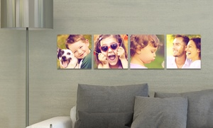 """Four 5""""x5"""", 6""""x6"""", Or 8""""x8"""" Custom Prints On Metal From Picture It On Canvas (up To 86% Off)"""