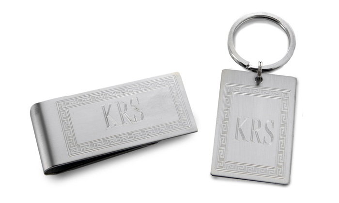 Custom Money Clip and Keychain Set from Monogram Online (2-Piece)