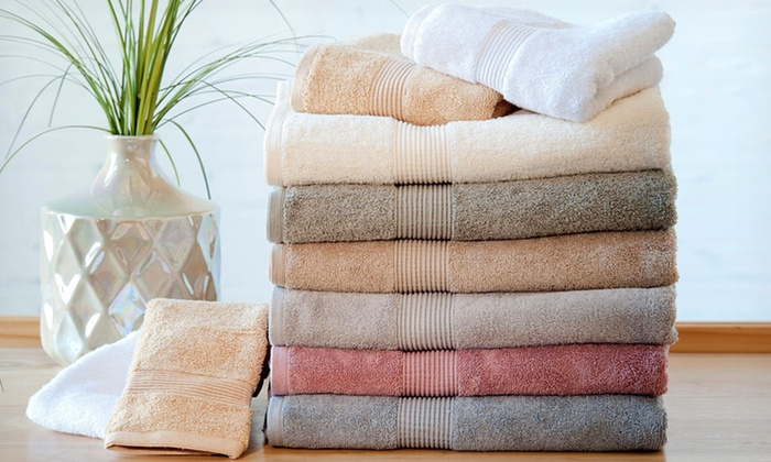 Heavyweight 600 GSM 4 piece 100% Cotton-Towel Set: $22.99 for a Four-Piece Towel Set ($65.96 List Price). 8 Colors Available. Free Shipping and Returns.