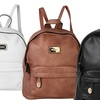 Diophy Women's Pebble Leather Backpack