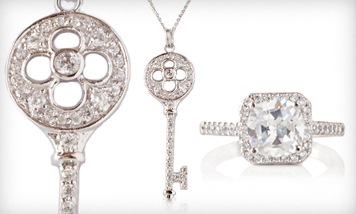 Vintage-Style Rings and Pendants: Petal, Alhambra, or Four-Leaf Clover Key Pendant with 18-Inch Chain or a Round or Square Ring (Up to 65% Off). Free Shipping.