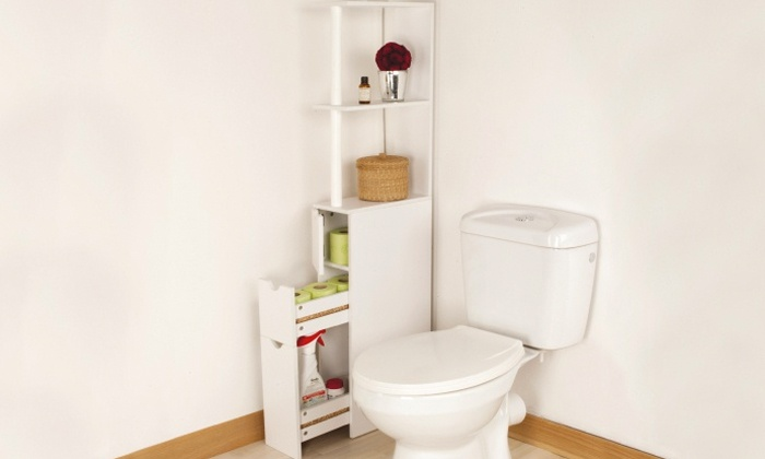 meuble de rangement toilettes ou salle de bains groupon shopping. Black Bedroom Furniture Sets. Home Design Ideas