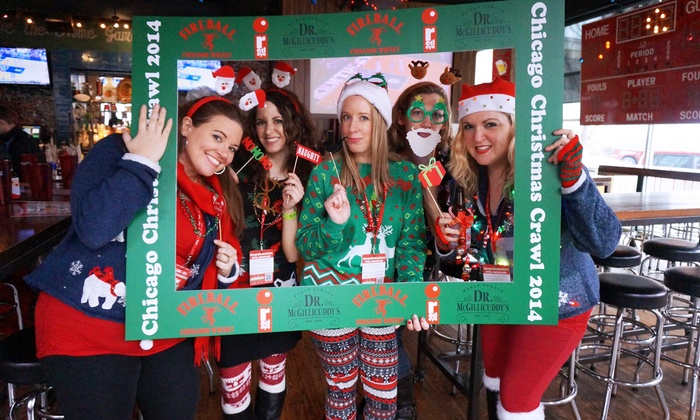 SocialTechPop - Old town: $35 for Two Tickets to the Chicago Christmas Crawl in Old Town from SocialTechPop ($75.84 Value)